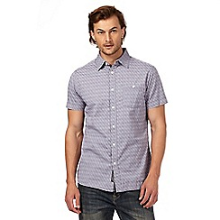 RJR.John Rocha - Big and tall purple patterned short sleeve shirt