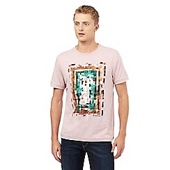 RJR.John Rocha - Big and tall pink block print t-shirt