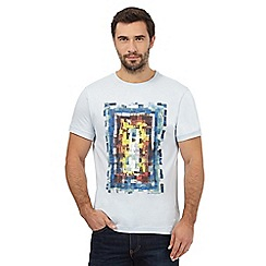 RJR.John Rocha - Big and tall light blue block print t-shirt