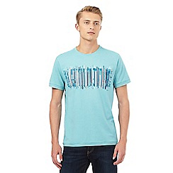 RJR.John Rocha - Big and tall turquoise textured line print t-shirt