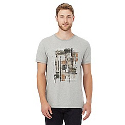 RJR.John Rocha - Big and tall grey abstract print t-shirt