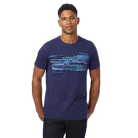 Rjr john rocha big and tall navy oil print t shirt debenhams for Big and tall printed t shirts