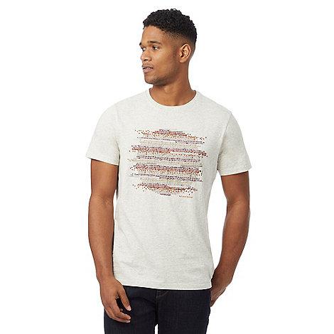 Rjr john rocha big and tall natural spotted print t shirt for Big and tall printed t shirts