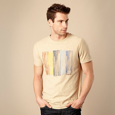 RJR.John Rocha - Designer natural painted striped t-shirt