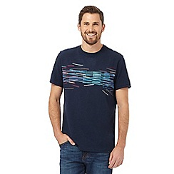 RJR.John Rocha - Navy layered bar print t-shirt