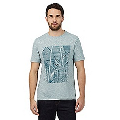RJR.John Rocha - Big and tall light turquoise rooftops printed t-shirt