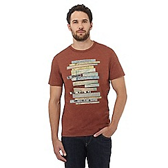 RJR.John Rocha - Big and tall dark orange print, stitch and applique t-shirt