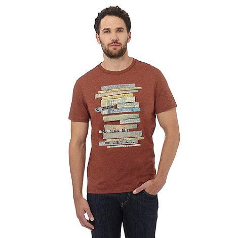 Rjr john rocha big and tall dark orange print stitch and for Big and tall printed t shirts