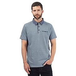 RJR.John Rocha - Big and tall blue textured polo shirt