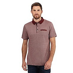 RJR.John Rocha - Red jacquard polo shirt