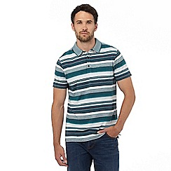 RJR.John Rocha - Big and tall dark turquoise textured striped polo shirt