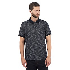 RJR.John Rocha - Big and tall navy textured fine striped polo shirt