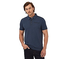 RJR.John Rocha - Blue marl textured polo shirt