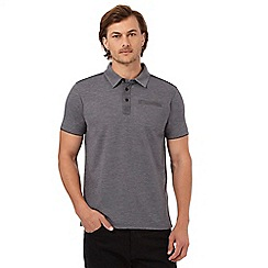 RJR.John Rocha - Big and tall grey marl textured polo shirt