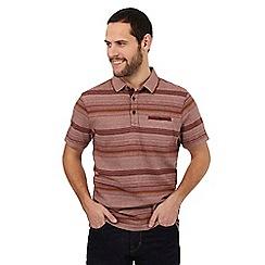 RJR.John Rocha - Red striped cotton polo shirt