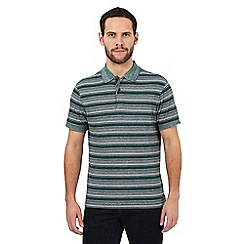 RJR.John Rocha - Big and tall dark green striped cotton polo shirt