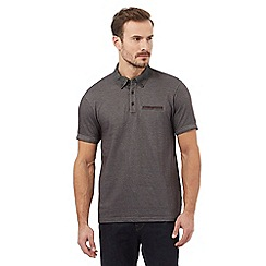 RJR.John Rocha - Big and tall grey woven polo shirt
