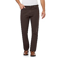 RJR.John Rocha - Big and tall dark brown straight leg jeans