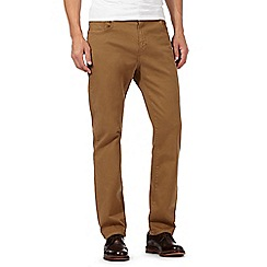RJR.John Rocha - Tan straight leg chinos