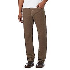 RJR.John Rocha - Big and tall light brown cord trousers