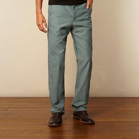RJR.John Rocha - Designer turquoise textured striped trousers