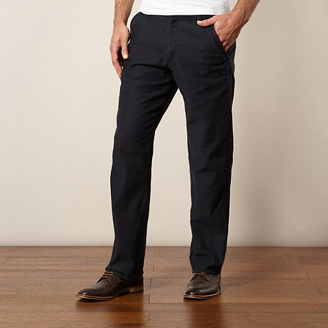 RJR.John Rocha - Designer near black ribbed straight leg trousers