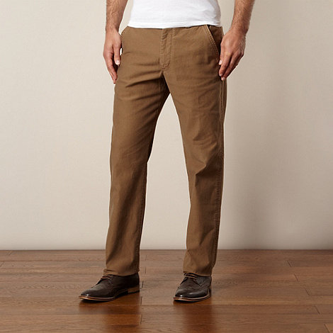 RJR.John Rocha - Big and tall designer tan regular fit chinos