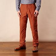 Designer brown fine cord casual trousers