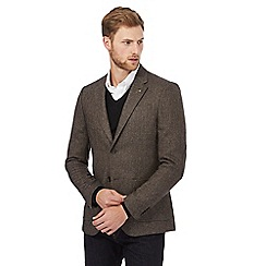 RJR.John Rocha - Big and tall taupe donegal blazer