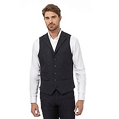 RJR.John Rocha - Big and tall grey textured waistcoat with wool