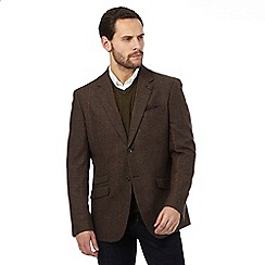 RJR.John Rocha - Big and tall brown wool blend dogtooth jacket