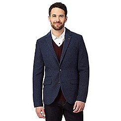 RJR.John Rocha - Big and tall navy wool blend single breasted blazer