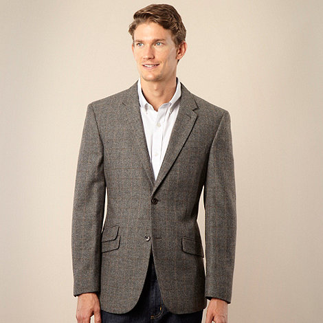 RJR.John Rocha - Designer grey brushed herringbone jacket