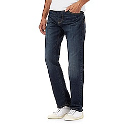 RJR.John Rocha - Dark blue vintage wash straight fit jeans