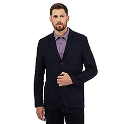 RJR.John Rocha - Big and tall navy textured jersey jacket