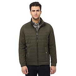 RJR.John Rocha - Big and tall khaki padded zip through sweater