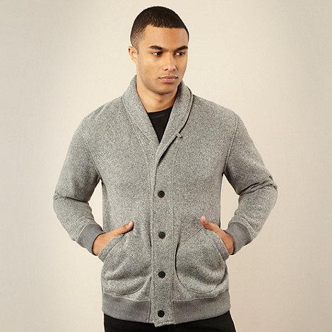 RJR.John Rocha - Designer grey fleece shawl neck cardigan
