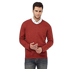 RJR.John Rocha - Dark orange V neck jumper