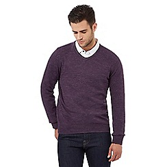 RJR.John Rocha - Big and tall purple v neck jumper