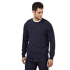 RJR.John Rocha - Big and tall navy slub textured jumper