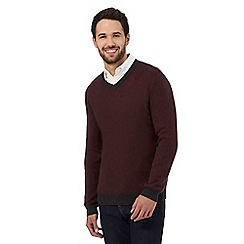 RJR.John Rocha - Dark red V neck jumper