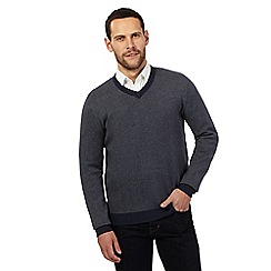 RJR.John Rocha - Big and tall grey birdseye textured jumper