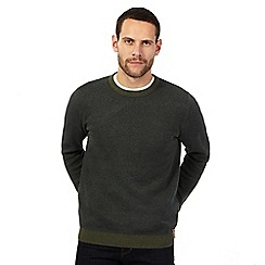 RJR.John Rocha - Big and tall green birdseye textured long sleeve top