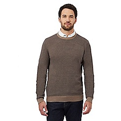 RJR.John Rocha - Big and tall brown birdseye textured jumper