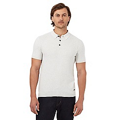 RJR.John Rocha - Off white weave textured polo shirt