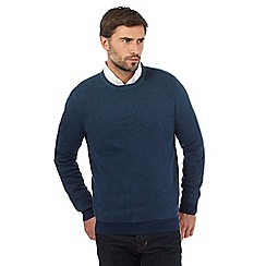 RJR.John Rocha - Big and tall blue ombre crew neck jumper