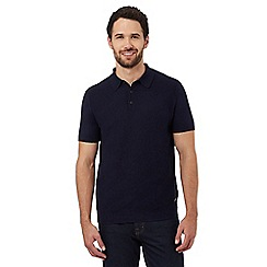 RJR.John Rocha - Navy chevron textured polo shirt
