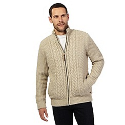 RJR.John Rocha - Big and tall beige sherpa lined jacket