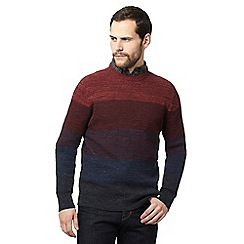RJR.John Rocha - Big and tall dark red and navy ombre-effect jumper