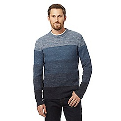 RJR.John Rocha - Blue colour block jumper